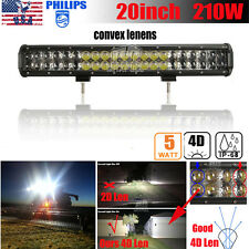 "20INCH 210W PHILIPS LED LIGHT BAR SPOT&FLOOD OFFROAD JEEP TRUCK F150 24""/50"" HOT"