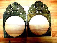 Lot 2 Fronton chimère & soleil Comtoise horloge ancienne Morbier uhr clock 3