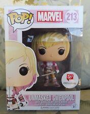 Funko Pop Unmasked Gwenpool Walgreens Exclusive #213 Marvel Pop!