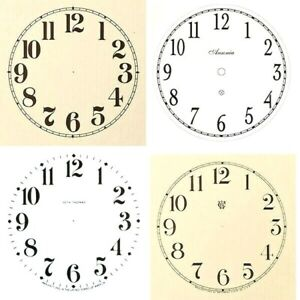 New Replacement Arabic Clock Dials Faces Strong Card Paper - Sizes 50mm - 300mm