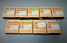 Lot Archives Ct25 Correcting Tape (9) & Trophy Music 4075 Bandstand Clips (5)