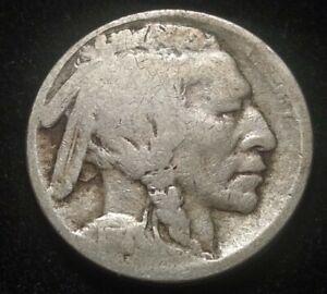 1914-S US 5 Cents Buffalo Nickel Nice Coin