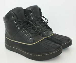 Nike Woodside ACG 386469-001 Black Waterproof Duck Boots Shoes Mens US 10