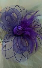Fascinator Hat purple wedding facinator mauve hat