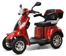 ECO ENGEL 510 rot, Seniorenmobil 4 Rad Quad, Elektromobil, Elektroroller