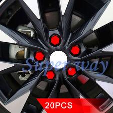 20 Pcs/Combo 19mm Red Rubber Car Truck Wheel Tyre Center Hub Screw Hub Bolt Caps