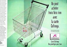 PUBLICITE ADVERTISING 126  1998   Carte  crédit Cofinoga (2p)  banque