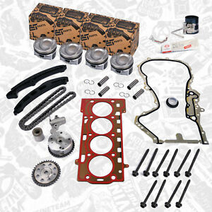 Kit de Réparation Piston+Joints+Kit Chaîne Distribution Audi Skoda VW 1,4 TSI