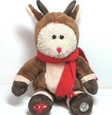 Reindeer plush soft toy Christmas Rudolph the Red nosed Starbucks Coffee 2003