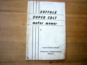 Suffolk Super Colt lawnmower operator's manual, 1969, good condition