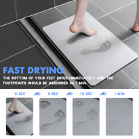 Diatomite Anti-Slip Super Absorbent Quick Drying Bathroom Bath Floor Mat US