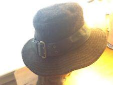 Helen Kaminski 100% Virgin Wool  Hat Brown with Leath Band, OS Australia