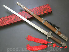 "Chinese Wudang Sect Sword ""Taichi Jian""(劍) High Carbon Steel Alloy Fitting #7998"