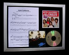 EAGLES Hotel California GALLERY QUALITY CD FRAMED DISPLAY+EXPRESS GLOBAL SHIP
