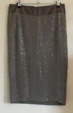 Next Size 8 Ladies Brown Skirt With Sequins