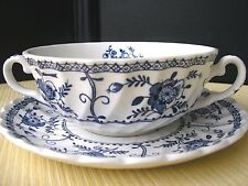 Superbe bol à bouillon en faience Anglaise Johnson Bros Indies