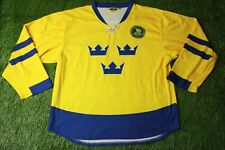 SWEDEN NATIONAL TEAM ICE HOCKEY RARE SHIRT JERSEY TRIKOT NEH ORIGINAL SIZE L/XL