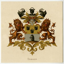 Antique Print-HERALDRY-COAT OF ARMS-DOMMER-Wenning-Rietstap-1883