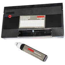 VHS Video Head Cleaner Tape With Cleaning Fluid | Wet and Dry Use