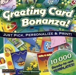 GREETING CARD BONANZA  10,000 Designs  Brand New Sealed   Win XP vista 7 8 10