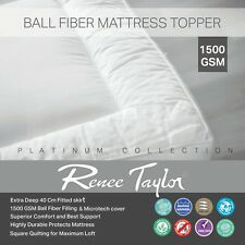 1500 GSM Platinum Mattress / Protector Topper King Bed Fully Fitted