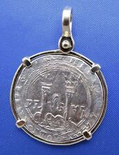 14k Gold Colonial Reproduction Charles & Joanna Rule New World Coin Pendant