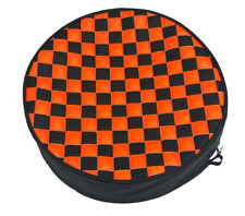 Checkered Fuel Tank End Covers Any Color Combination Any Size!
