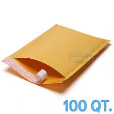 100 #1 7.25x12 Kraft Bubble Mailers Padded Envelopes Bags from TheBoxery