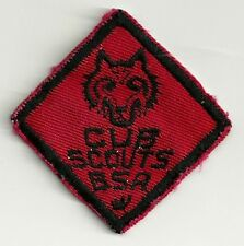 Vintage 1950's BSA Cub Scouts Wolf Rank Badge Patch V6