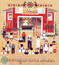 Cross Stitch Chart / Pattern ~ Told In A Garden Amish Grandfather's Barn #TG44