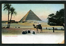 Egypt 1912 Postal Card Port Said to Italy Pyramid of Chephren VF