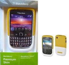 Blackberry 8520 Funda Premium AMARILLA-BLANCA Original