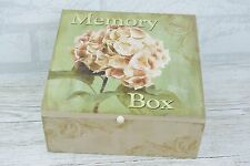 Mum Memory Box Mothers Day Keepsake Chest Treasured Hydrangea Wooden SG1600
