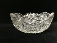 "Vintage ABP American Brilliant Period Cut Crystal Fruit Bowl, 8"" D x 3 1/2"" High"