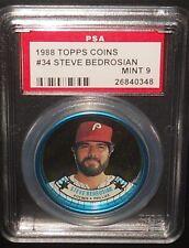 PSA 9 MINT 9 - #34 Steve Bedrosian 1988 Topps Coins Philadelphia Phillies