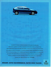 Publicité Advertising 107  1995  la Renault Mégane & Elf