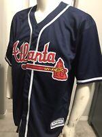 MLB Stitched Majestic Cool Base Atlanta Braves Ronald Acuna Jr. Jersey L