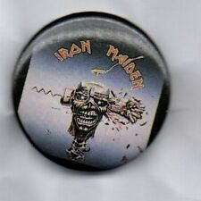 IRON MAIDEN  BUTTON BADGE Heavy Metal Rock Band - The Number of The Beat 32mm