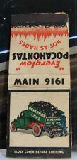 Rare Vintage Matchbook Cover K1 Acherman Coal Everglow Pocahontas Hot As Hades