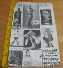 1968 Wrestling poster flyer Olympic Auditorium NWA WWA Sniper Mummy Judy Grable