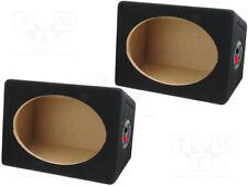 MDF Gehäuse (Paar) für  Lautsprecher oval 15x23cm