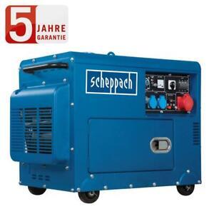 Scheppach Diesel Stromerzeuger SG5200D Generator, Notstromaggregat max. 5000 W