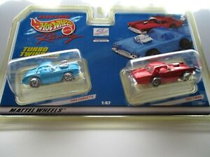 Hot Wheels Turbo TwinPack 1960 Corvette & 1957 T-Bird