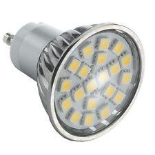 GU10 3.5W 4W LED bombilla Spot Lámpara 24 27 SMD 5050 en cascarón de aluminio con cubierta