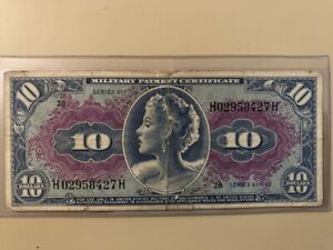 Military Payment Certificate MPC 611 series $10 ten-dollars Marilyn Monroe