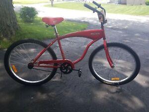 """(L@@K) redds apple ale beer bicycle 26"""" beach cruiser bike miller brewing new"""