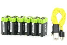 6pcs 9V 400mAh lithium li-po rechargeable advanced battery + USB charging cable