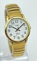 Men's TIMEX Easy Reader Classic Gold Tone Flex Band  Watch Indiglo Quartz T20481
