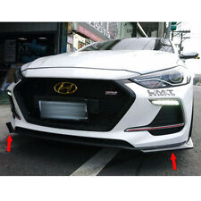 Painted Black For Hyundai AD Elantra Sport Sedan Front Bumper Lip Splitter 2PCS
