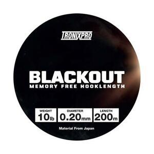 Tronixpro Blackout Trasparente 200m Linea / Gancio Lunghezza/Pesca